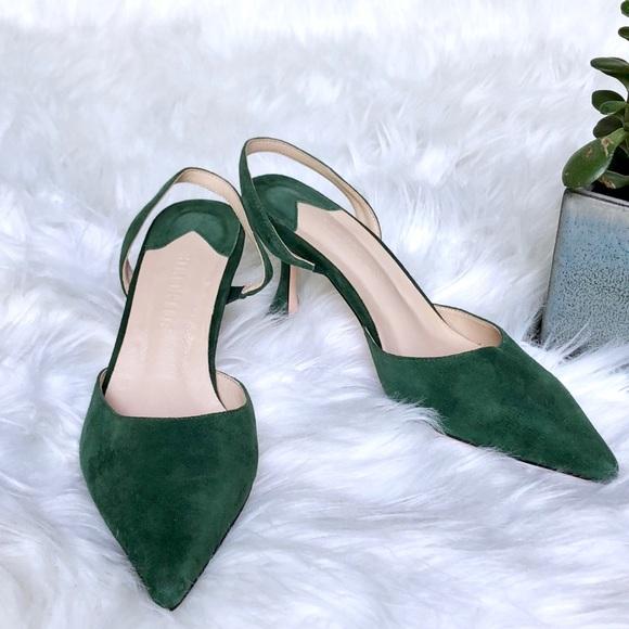 2c7db3a9042 ... suede pointed toe sling back heels. M 5b579af9fb3803343eedc358